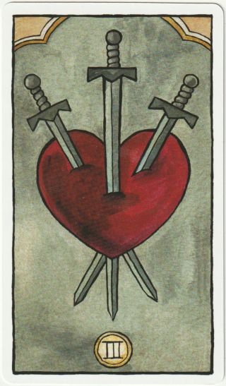 tarot psychologique 3 epees